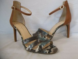 Jessica Simpson 7.5 M Maselli Multi Color Open Toe Heels New Womens Shoe... - $53.51