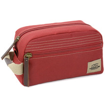 New Timberland Men's Premium Canvas Toiletrie Travel Kit Bag Red Np0302/05