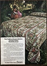 1973 Sears Roebuck & Co Sudbury Square Collection Quilted Bedspreads Print Ad - $9.59