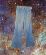vintage bellbottom disco jeans size small 6 1970s flares flared boho hip... - $24.99