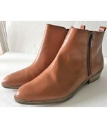 Chaps by Ralph Lauren Brown Saddle Zip Up Ankle Boots Booties Shoes Sz 8... - $89.99