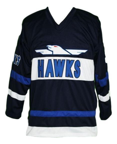 Bombay  9 mighty ducks hawks retro hockey jersey navy blue   1