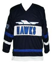 Any Name Number Mighty Ducks Hawks Hockey Jersey Bombay Navy Blue image 1