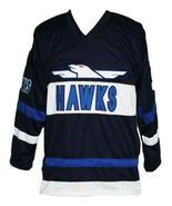 Custom Name # Mighty Ducks Hawks Retro Hockey Jersey Navy Blue Bombay 9 ... - $54.99+