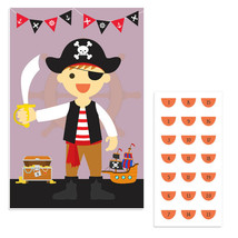 Pirate Boy Pin The Smile Birthday Party Game - $21.29