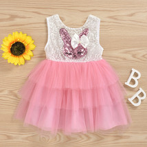 NEW Easter Bunny Sequin Rabbit Girls Sleeveless Tutu Dress 2T 3T 4T - $10.99