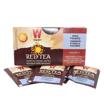 Wissotzky Red Tea Herbal Tea Cinnamon & Vanila Coffein Free 25 pcs tea - $14.85