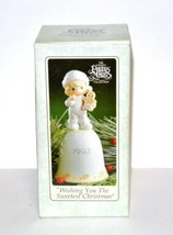 Precious Moments Wishing You The Sweetest Christmas 530174 1993 porcelai... - $12.33