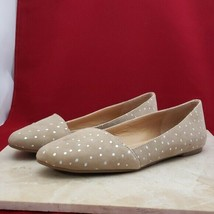 Lucky Brand Tan with Silver Spots Flats Size 6 - $24.99