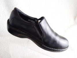 Born Loafers Black Leather Women Size 8 Shoes - $14.00