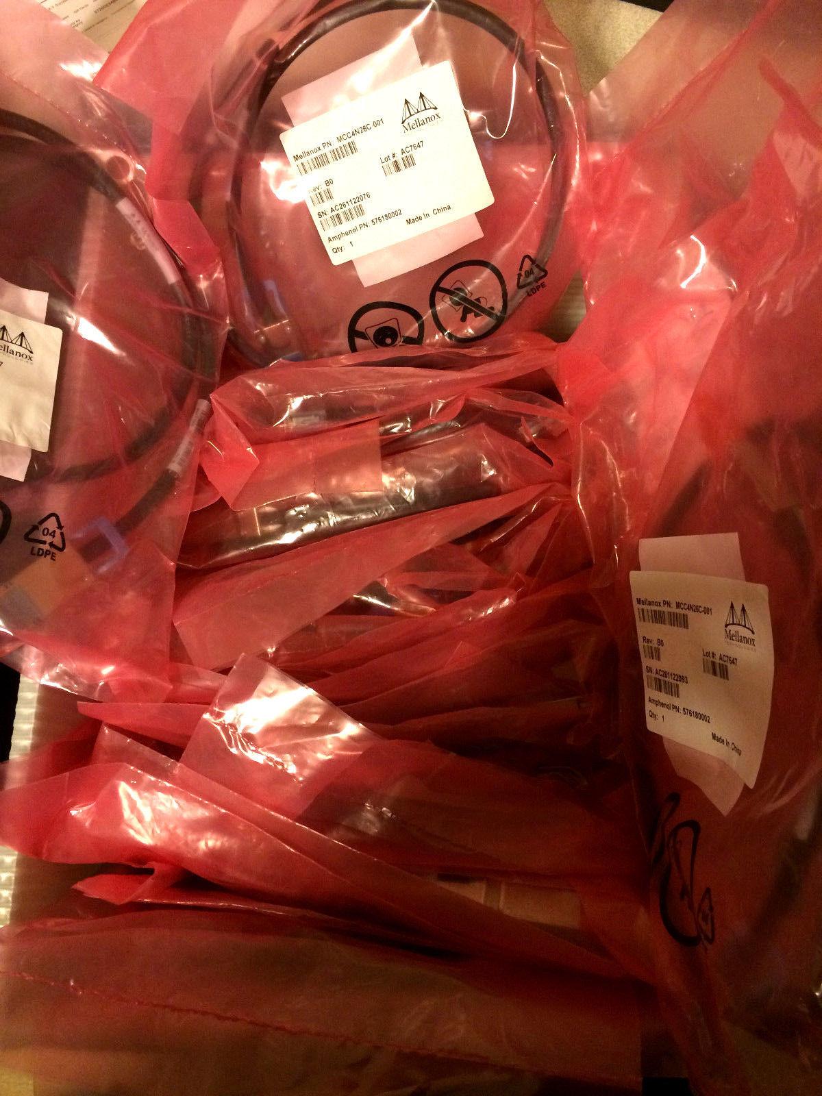 Lot (44) Mellanox InfiniBand Cable MCC4N26C-001 New