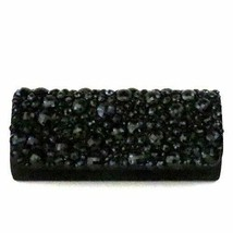 Sondra Roberts Faceted Jet Black Stone Clutch - $64.35