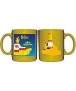 The Beatles Yellow Submarine Art & Logo Ceramic Mug NEW UNUSED - $6.87
