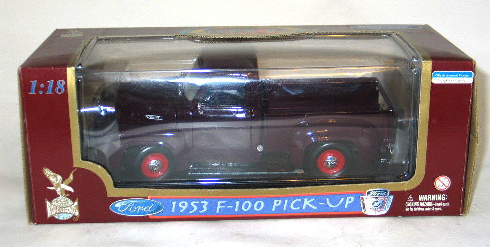 Yat Ming Road Legends 1953 1:18 F-100 Ford Pick Up Truck Maroon