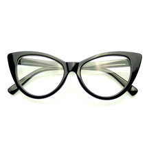 Super Cat Eye Glasses Vintage Inspired Fashion Mod Clear Lens Eyewear - $7.55