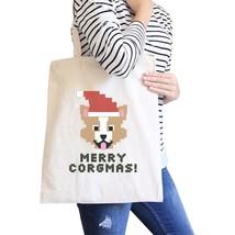 Merry Corgmas Corgi Natural Canvas Bags - $19.89 CAD