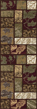 """2x8 (2'2"""" x 7'7"""") Lodge Cabin Forest Leaves Leaf Area Rug *FREE SHIPPING* - €83,31 EUR"""