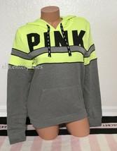 Victoria's Secret Pink Neon Citrus Yellow Gray Black Perfect Pullover Ho... - $59.99