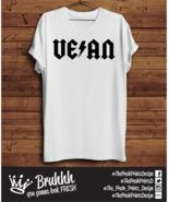AC DC VEGAN T Shirt Muscle Gym Food Woman Rock Music Tumblr Hipster Unis... - $13.03