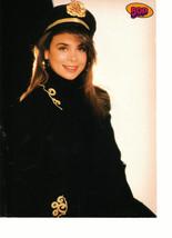 Alyssa Milano Paula Abdul teen magazine pinup clipping gold flower