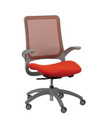 "24.4"" x 22.4"" x 38"" Orange Mesh / Fabric Office Chair - £230.57 GBP"