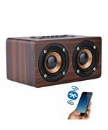 Wooden Wireless Bluetooth Speaker Portable Shock Bass Soundbar Mp3 Two-W... - $51.41