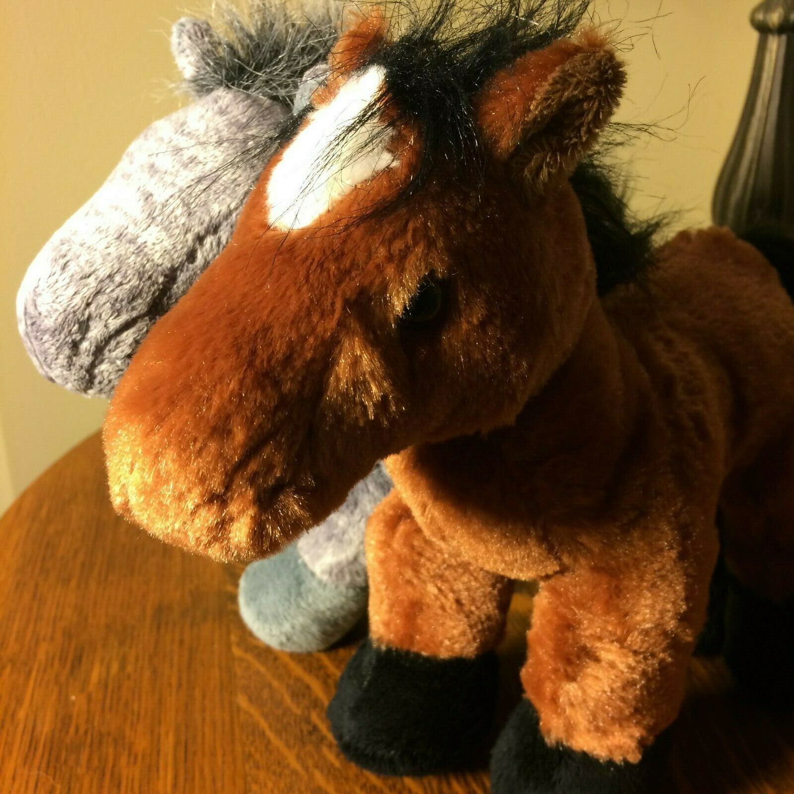 Primary image for Ganz Webkinz Lot of 2 Grey Brown Arabian Horses No Codes