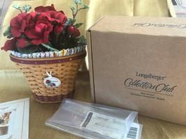 Longaberger May Series Miniature Geranium Basket Set 2004 Collectors Club Set! - $75.15