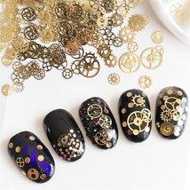 Nail Art Decor Accessories Nail Rhinestones and Metal Beads 6 or 9 Wheels image 3
