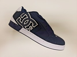 MENS DC NET SE SKATEBOARDING SHOES NIB NAVY WHITE      (NWH) - $67.49