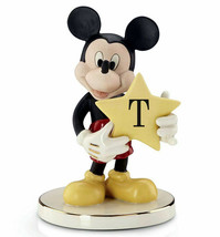 Lenox Disney You're A Shining Star Mickey Mouse Figurine Letter T Monogr... - $45.90