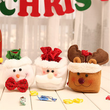 Christmas Kids Candy Bags Pouch Cotton Santa Claus Snowmen Drawstring C... - $8.00