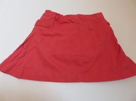 Janie Jack Side Pleat Girls Twill Tomato red Skort 5T - $13.98