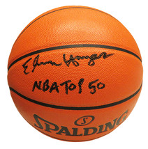 """Elvin Hayes Signed Spalding Game Series Replica NBA Basketball w/ """"NBA Top 50"""" - $120.00"""