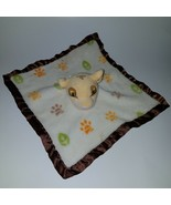 Simba The Lion King Lovey Disney Baby Plush Security Blanket Paw Prints Leaves - $29.65