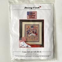 Stoney Creek SNOW MATTER WHAT Cross Stitch Kit Patriotic Snowmen USA Fla... - $19.80