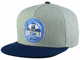 Star Wars 2Tone Marled Light Gray & Blue R2D2 Droid Adjustable Snap back Cap - $18.99