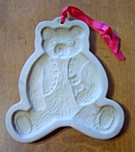 Brown Bag Cookie Art Mold Teddy Bear with Toy Stoneware Vintage 1984  - €13,73 EUR