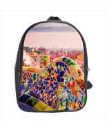 School bag 3 sizes bookbag park guell barcelona souvenir - $39.00+