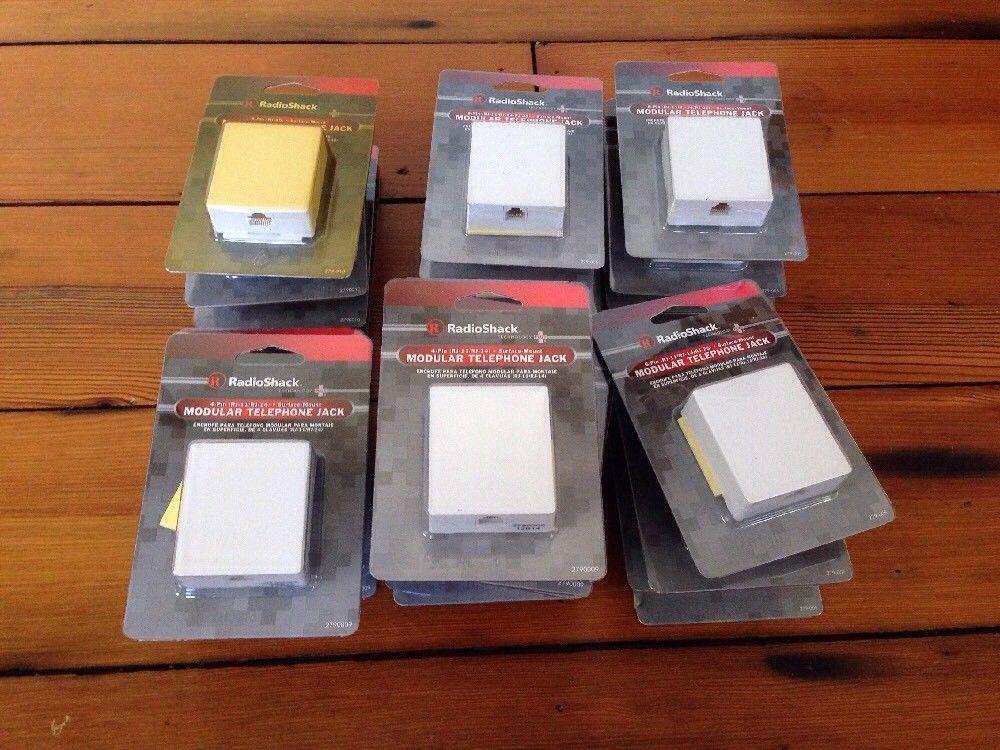 White Surface Mount Modular Phone Jack RadioShack 8-Pin RJ-45