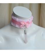 Made to Order - Kitten play collar - Rose quartz - kittenplay pastel cho... - $25.00