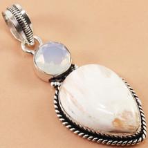 Silver Handicraft Fashion Scololite  Milky Fire Opal Gemstone Jewelry Pe... - $2.99