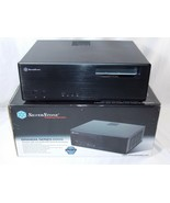SilverStone GD05 Grandia PC Computer Media Center HTPC Case Black Micro ... - $89.09