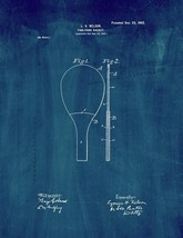 Ping Pong Racket Patent Print - Midnight Blue - $7.95+