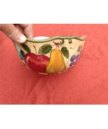 "Home Trends Granada Mixing Bowl, 9 1/2""  Hand Painted Ceramic, Fruit Design - $24.97"