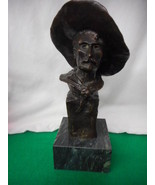 "Frederic Remington Cowboy Bronze 12"" Tall Marble Base - $292.05"