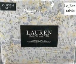Ralph Lauren 100% Cotton Multi-Color Spring watercolor Floral Queen Shee... - $89.09