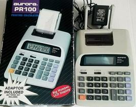 Aurora PR100 Printing Calculator Big Number LCD Display Adapter Included... - $19.99