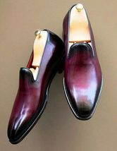 Mens Patina Loafers Shoes Handmade Ox Blood for Men Custom Made for Men ... - $129.99+