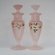 New Martinsville Glass Pink Satin Optic Spiral Taper Swirl Perfume Bottl... - $90.00